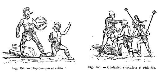 époque romaine les armes de gladiateurs